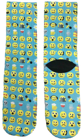 All Smiley Emoji Socks - Fun Crazy Cool Novelty Socks - Swaggy Socks