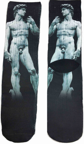 David Masterpiece Statue Art Socks - Fun Crazy Cool Novelty Socks - Swaggy Socks