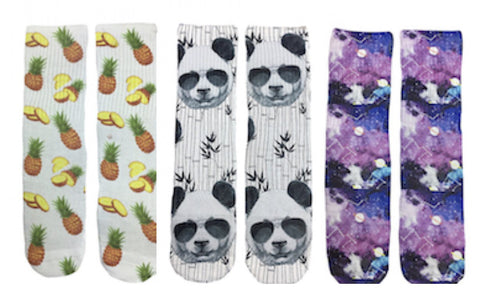 Mens Sock of the Month Club - 1 Pair Every Month - Fun Crazy Cool Novelty Socks - Swaggy Socks