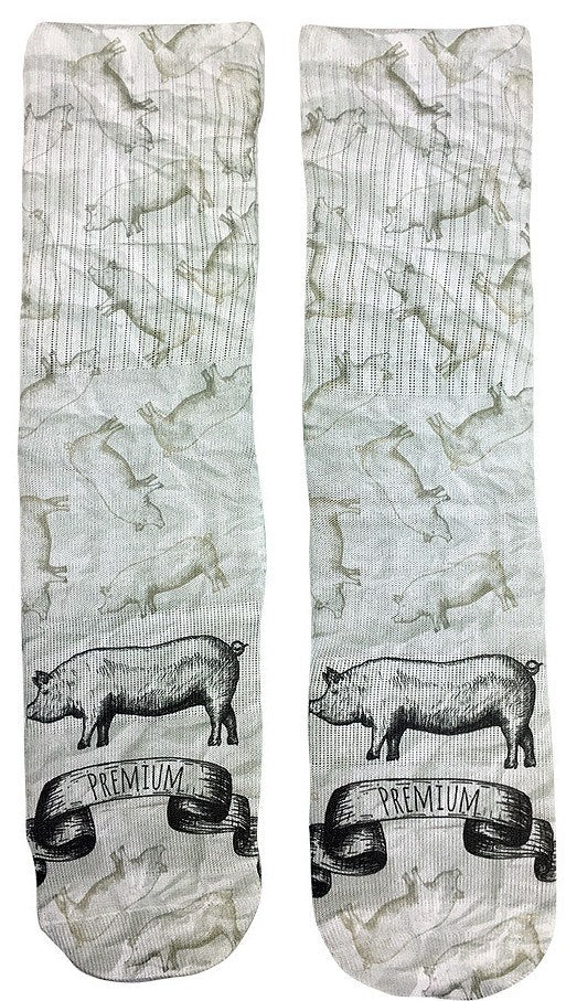Premium Swine Socks - Fun Crazy Cool Novelty Socks - Swaggy Socks