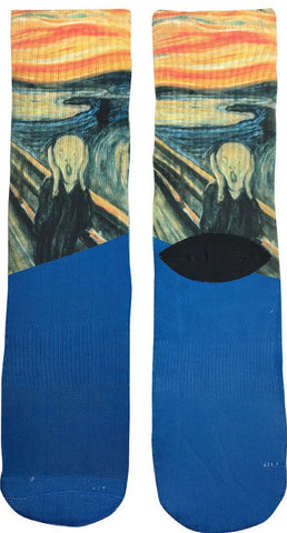 The Scream Art Socks - Fun Crazy Cool Novelty Socks - Swaggy Socks