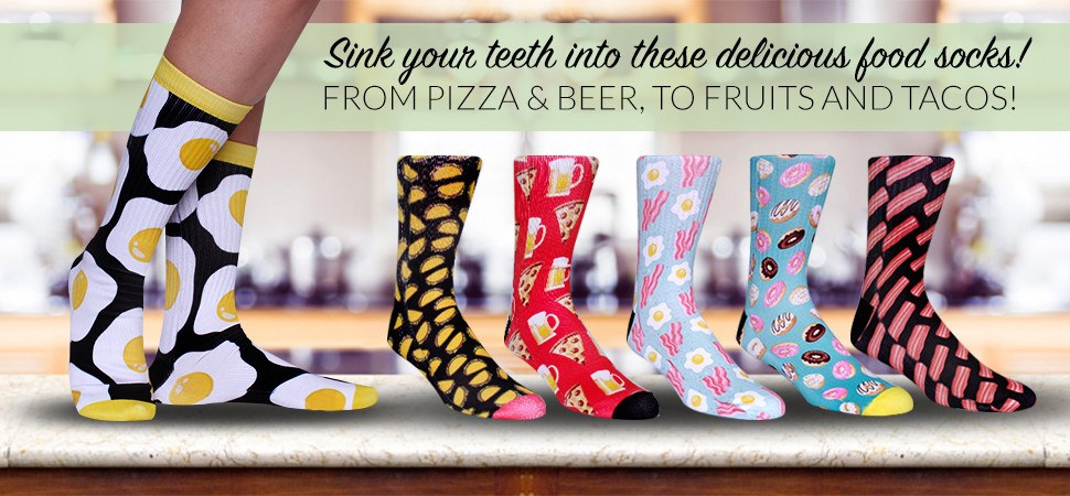 Cool Food Socks for Men & Women