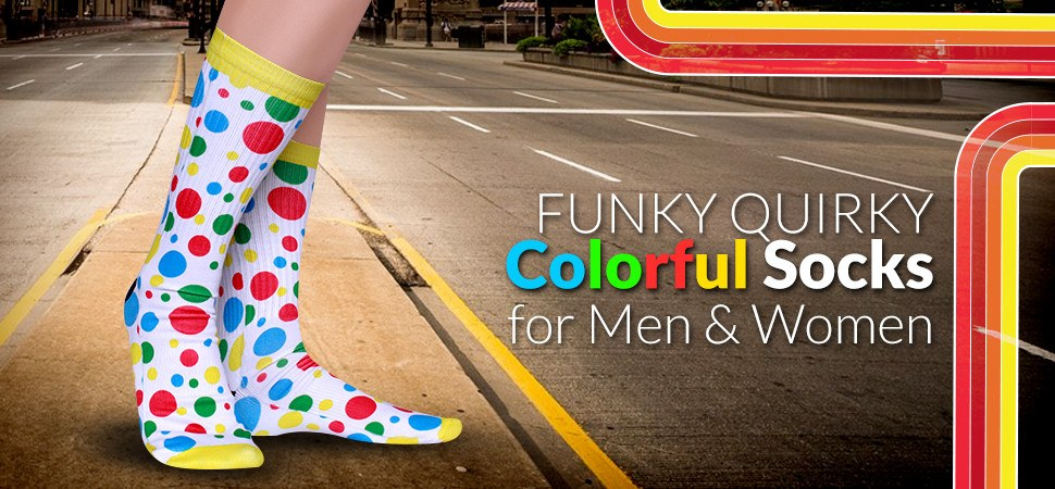Cool Colorful Novelty Socks for Men & Women