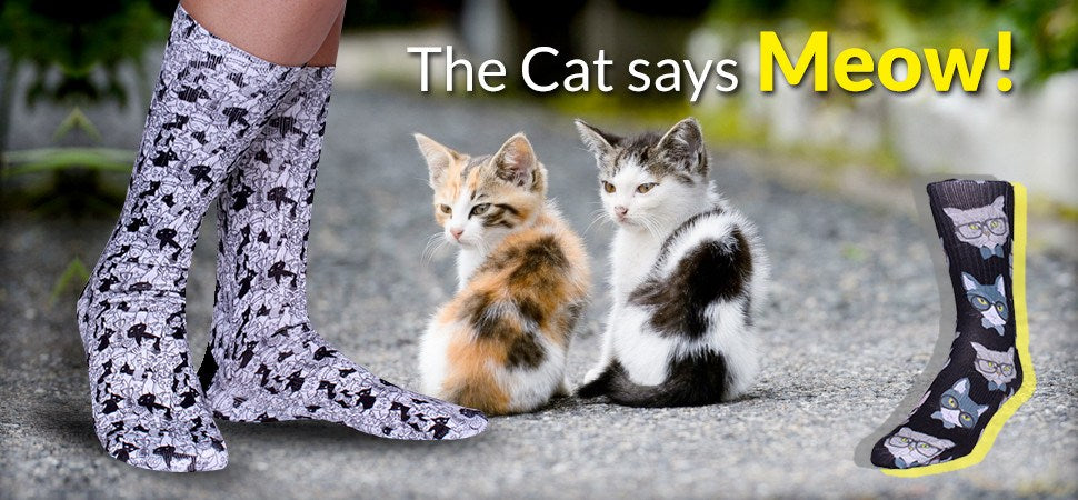 Fun Cat Socks - Cool Cat Socks for Women & Men