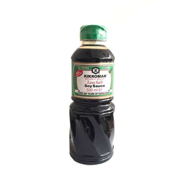 Kikkoman Less Salt Light Soy Sauce (500ml)