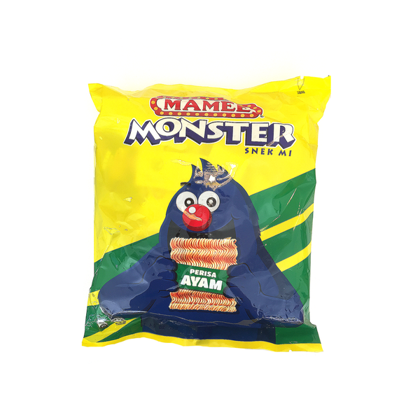 Mamee Monster Noodle Snack Original Chicken Flavour (25g x 8 Packs)