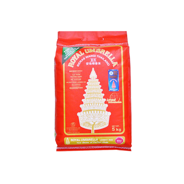 Royal Umbrella Thai Jasmine Rice Whole (5kg)