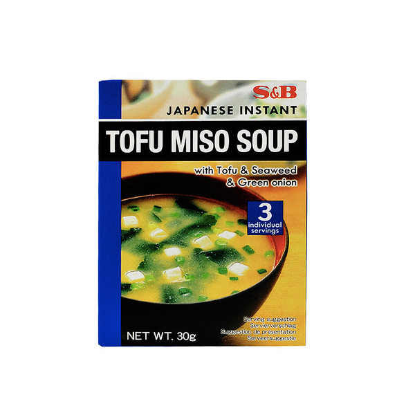 S&B Japanese Instant Tofu Miso Soup 3 Servings (30g)