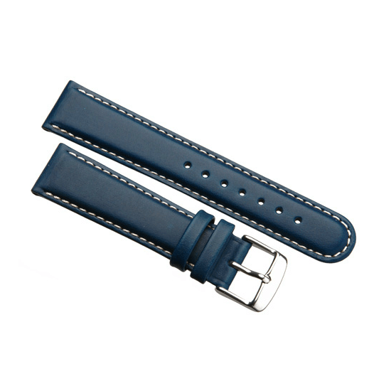 'Aerosport Mk2' Blue Leather Watch Strap