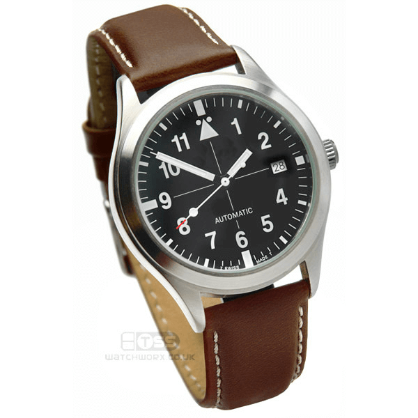 'Aerosport Mk2' Brown Leather Watch Strap