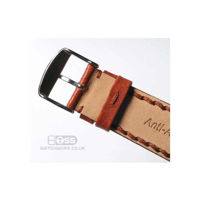 'Atlas' Leather Watch Strap Buckle