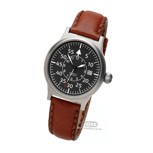 'Atlas' Tan Leather Watch Strap