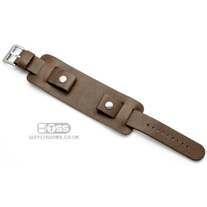 'Bund' 3 Piece Wristcuff Style Leather Watch Strap