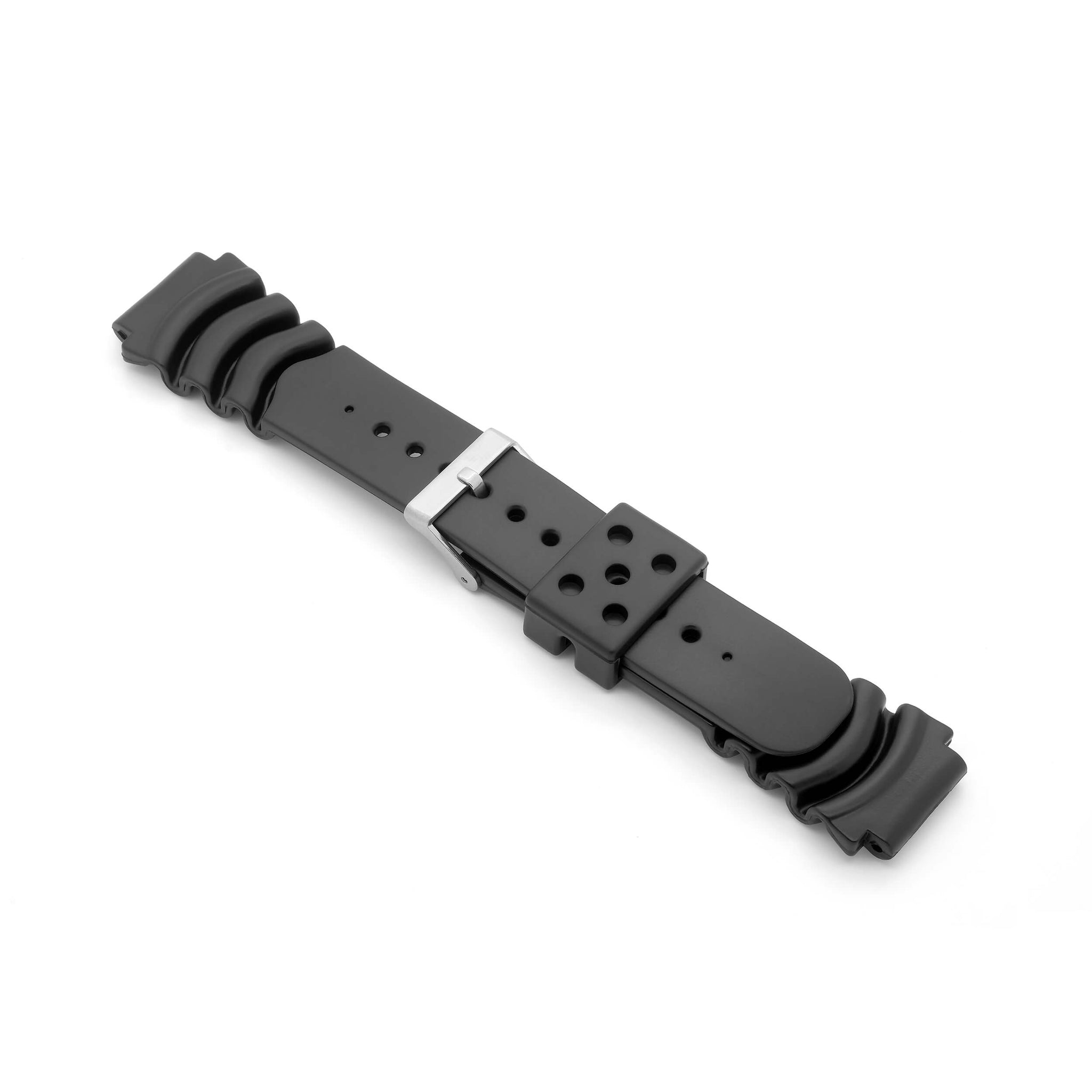 'Diver 3' PU Watch Strap (Black)