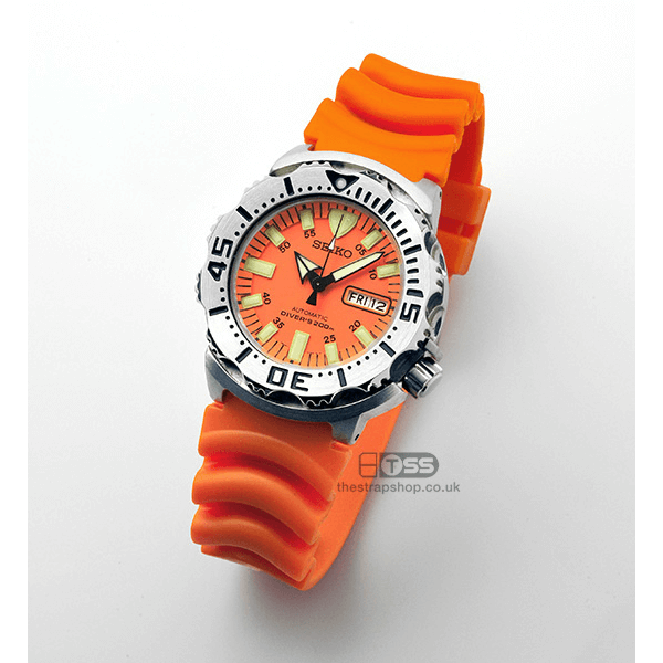 'Diver 3' PU Watchstrap (Orange)