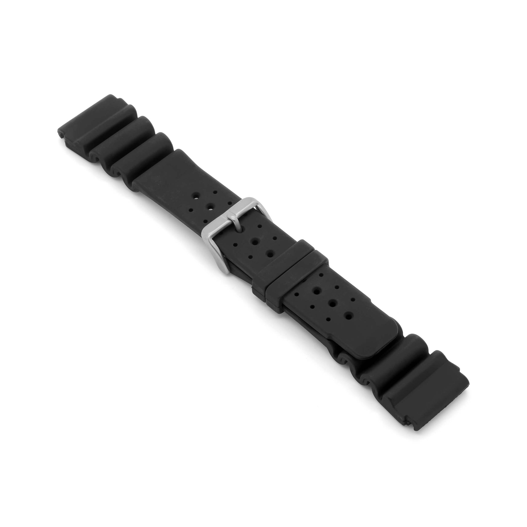 'Diver 4' 24mm Rubber Watch Strap