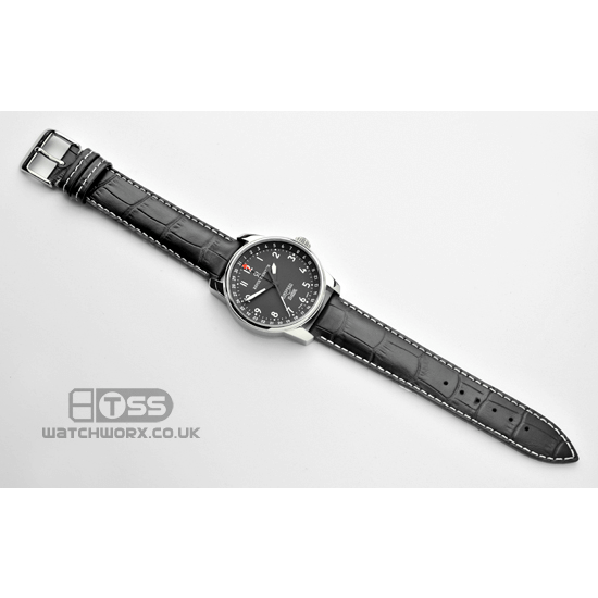 'Explorer' Alligator Grain Leather Watch Strap On Revue Thommen