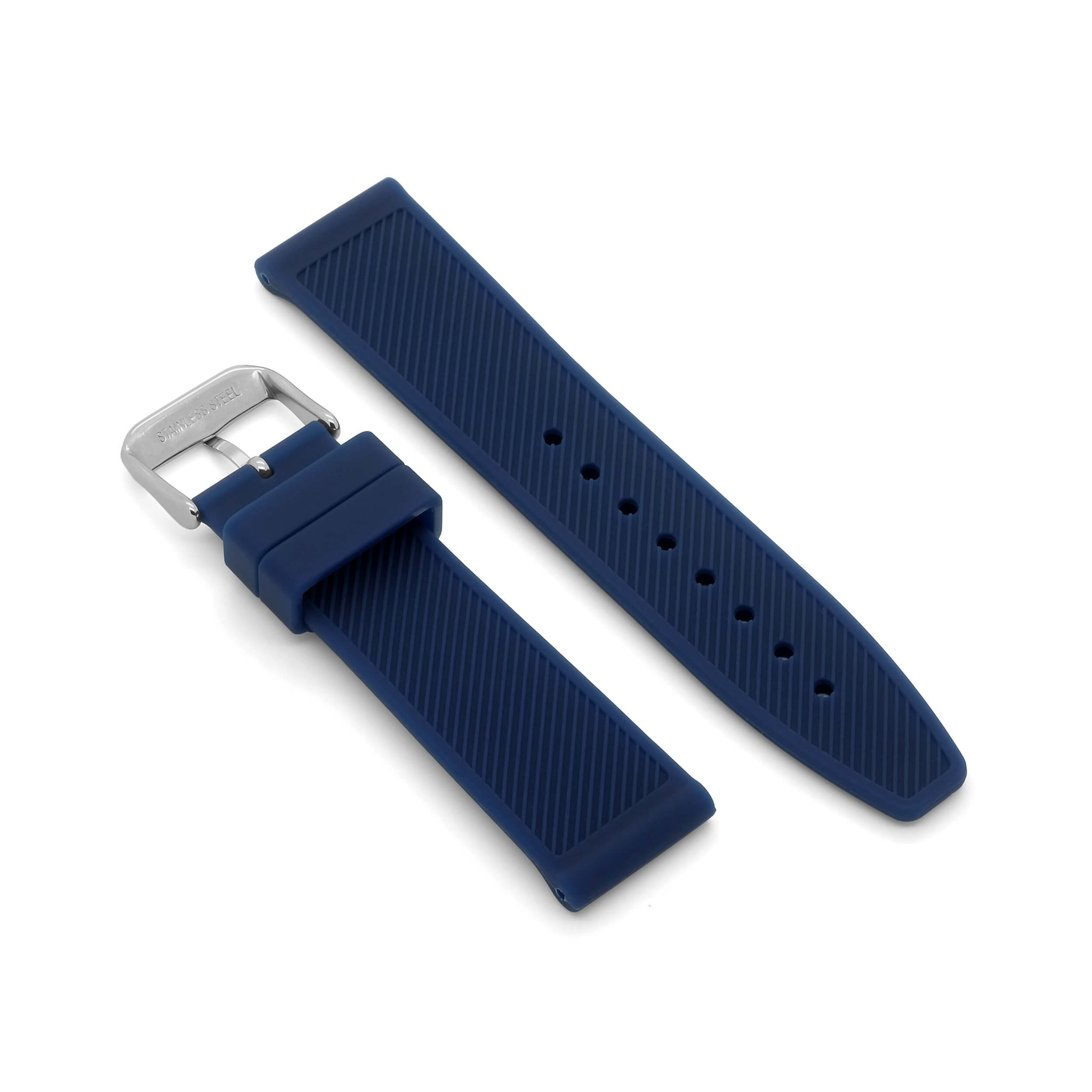 'Le Mans' Rubber Watch Strap (Blue)