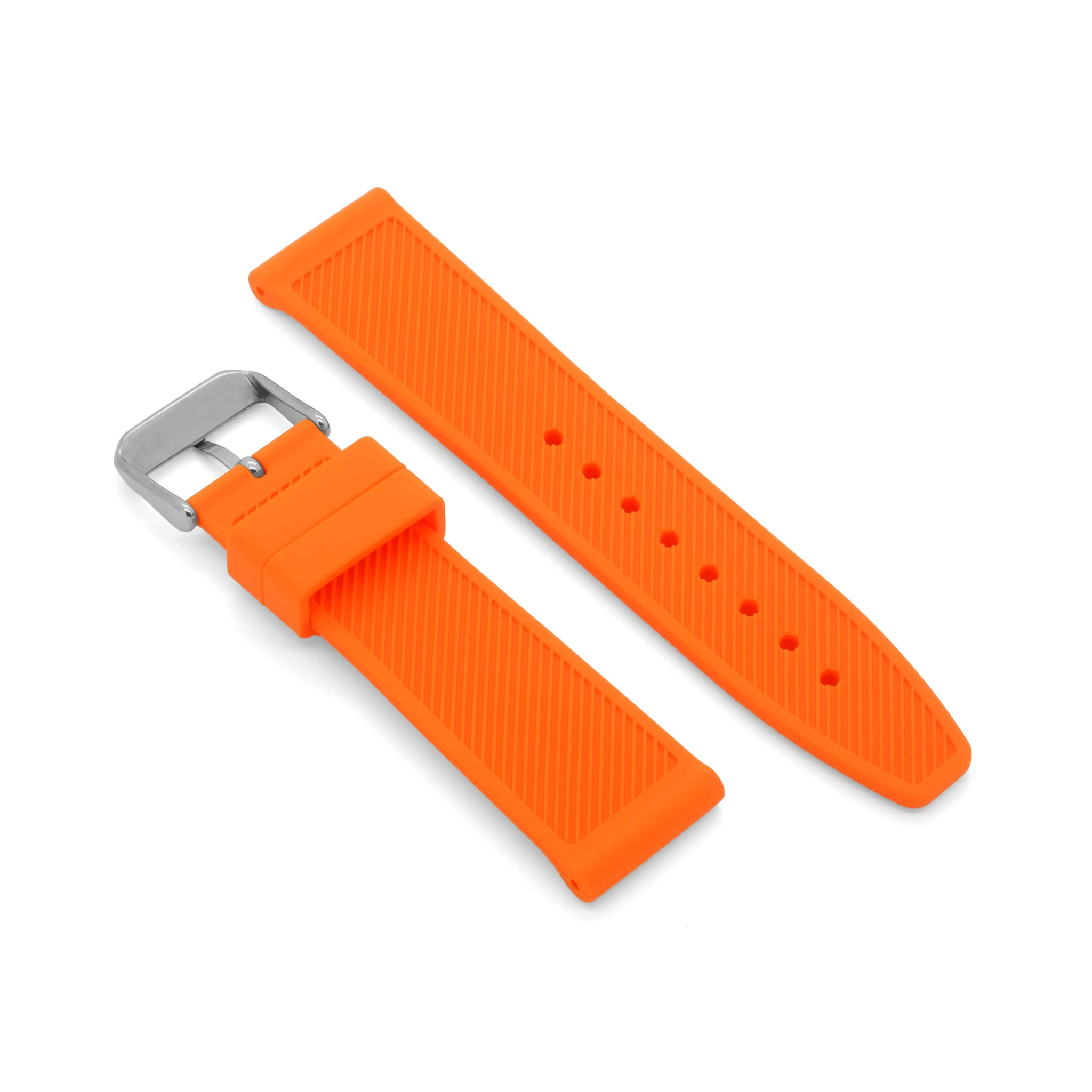 'Le Mans' Rubber Watch Strap (Orange)