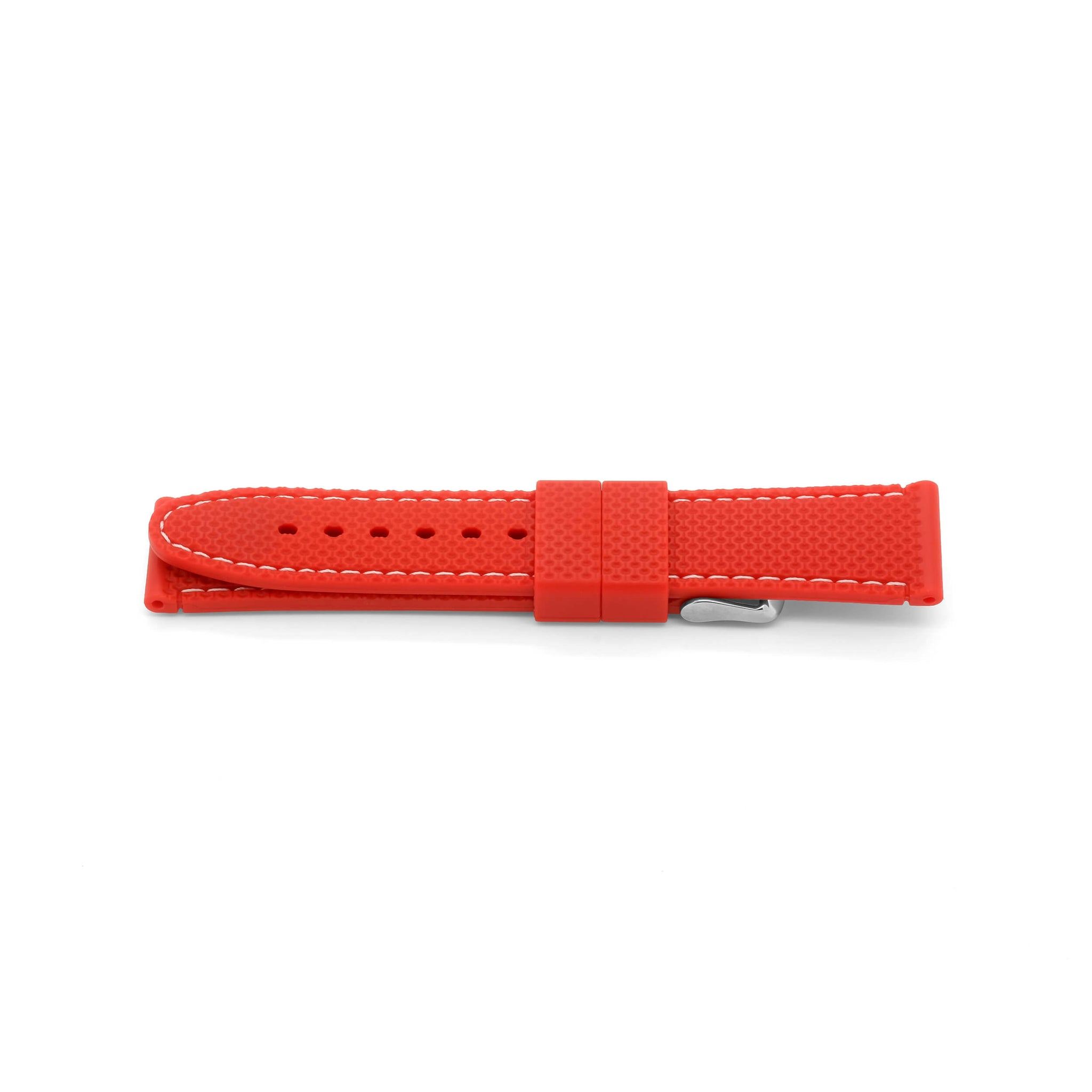 'Monaco' Rubber Watch Strap (Red/White)