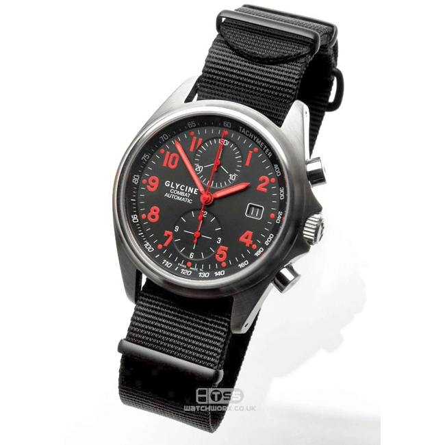 'Nato G10' Nylon Military Watch Strap On Glycine