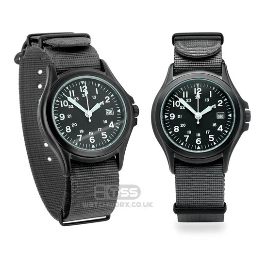 'Nato G10' Nylon Military Watch Strap In Grey