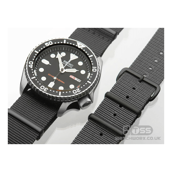 'Nato G10' Nylon Military Watch Strap On Seiko
