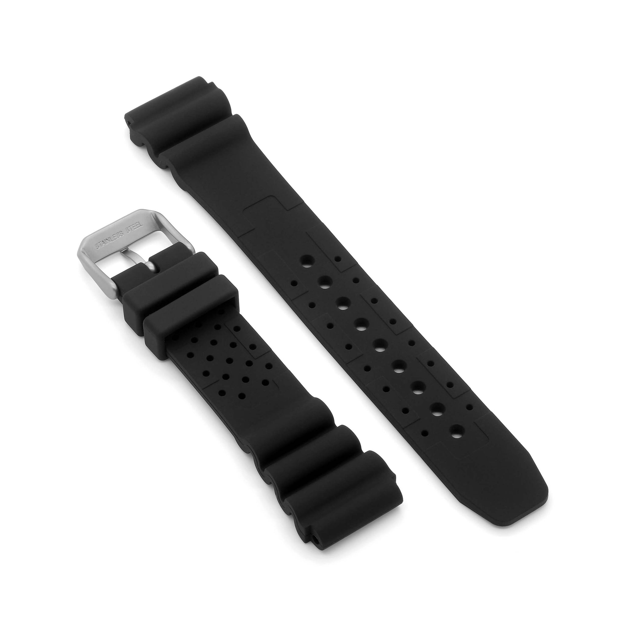 'N.D. Limits' Rubber Divers Watch Strap