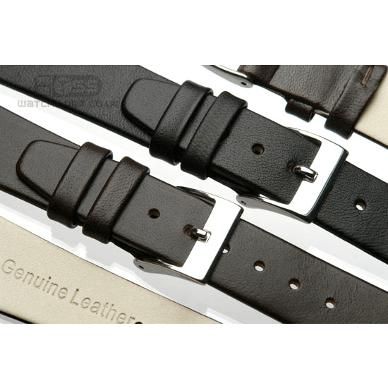 'OE Calf' Open Ended Watch Strap In Black & Brown