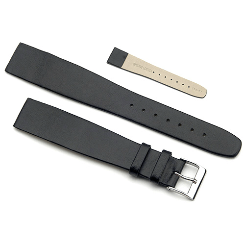 'OE Calf' Open Ended Watch Strap In Black