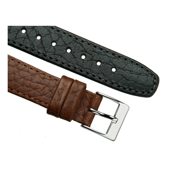 'OE Camel' Open Ended Watch Strap In Black & Brown