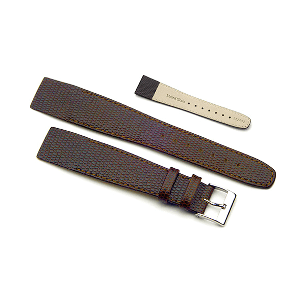 'OE Lizard Open Ended Watch Strap In Brown
