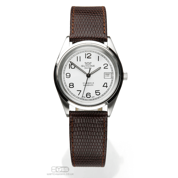 'OE Lizard' Open Ended Watch Strap In Black