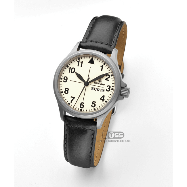 'Oiled Leather XL' Extra Long Leather Watch Strap On Damasko