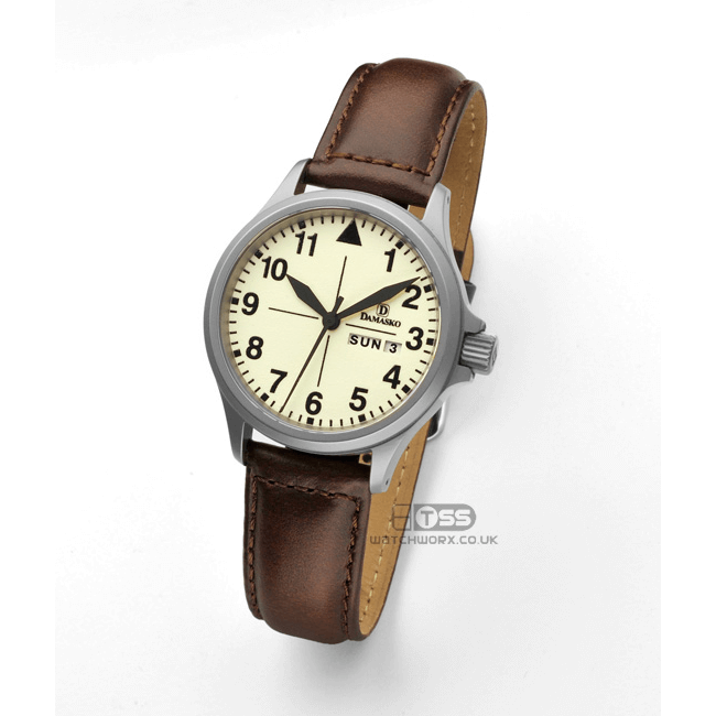 'Oiled Leather' Watch Strap In Brown On Damasko