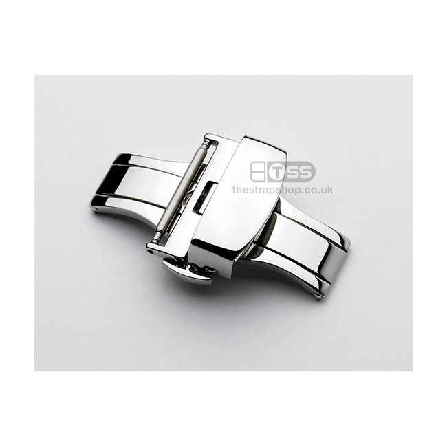 'Push Button Clasp' In Polished Silver