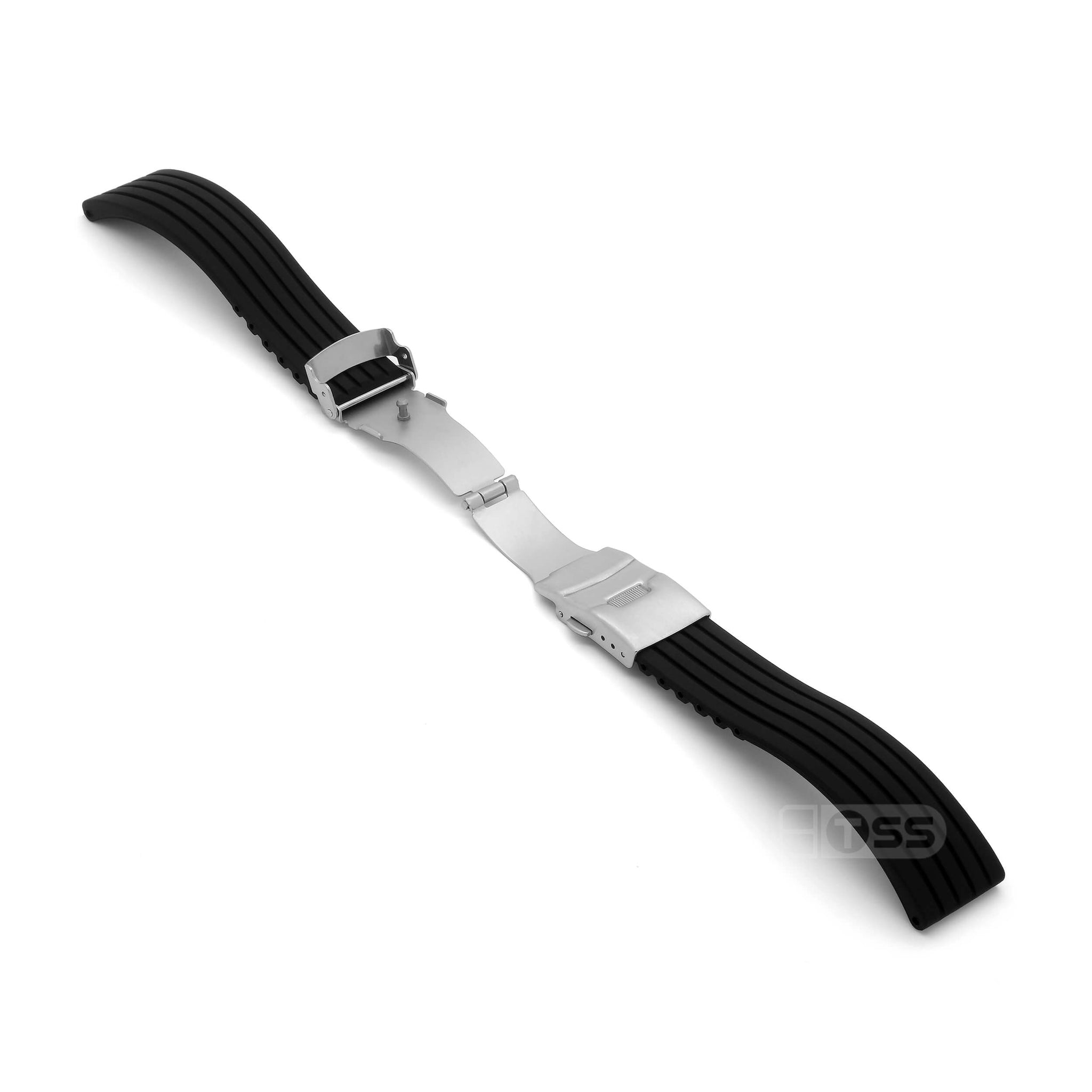'RBD-1' Rubber Deployment Watch Strap (Black)