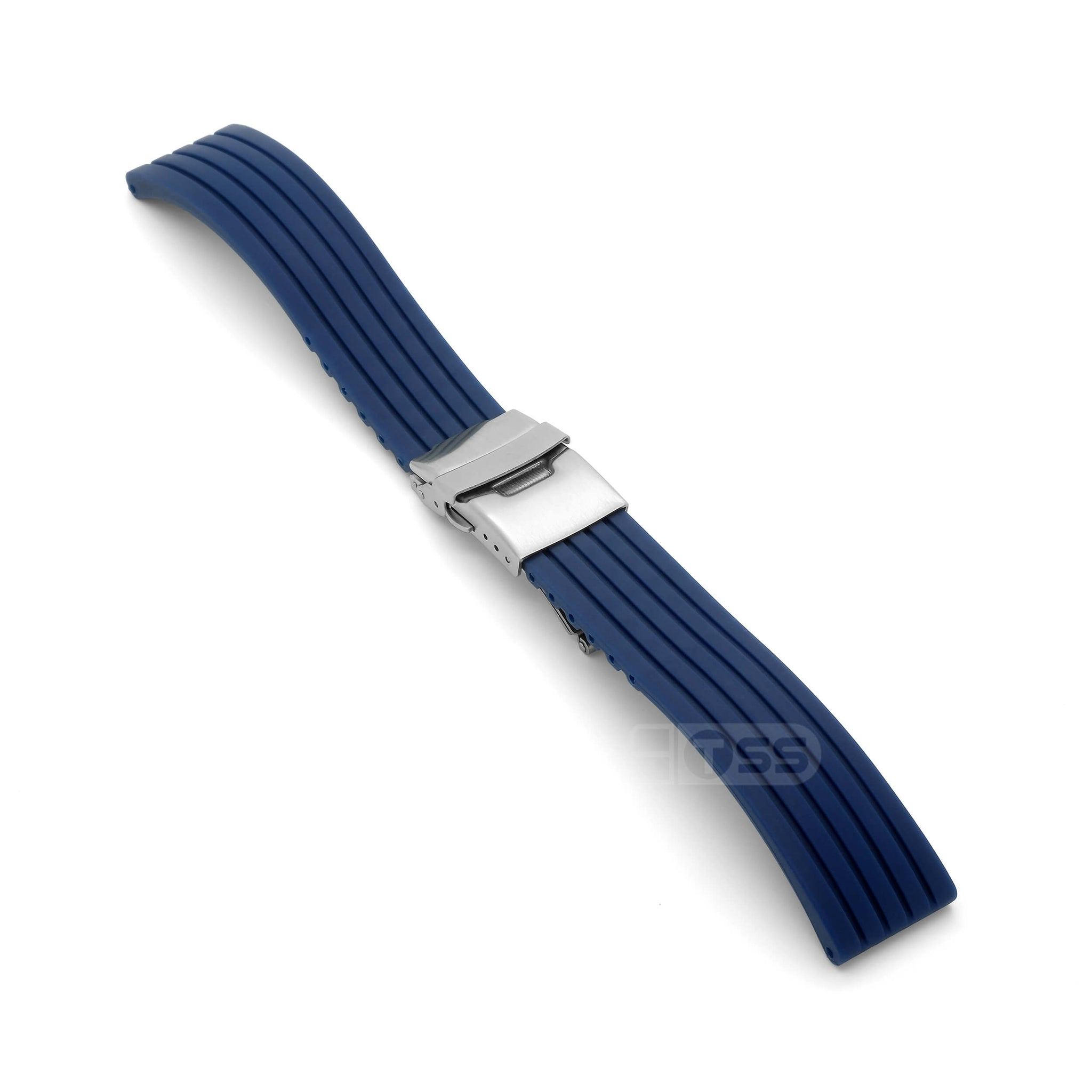 'RBD-1' Rubber Deployment Watch Strap (Blue)