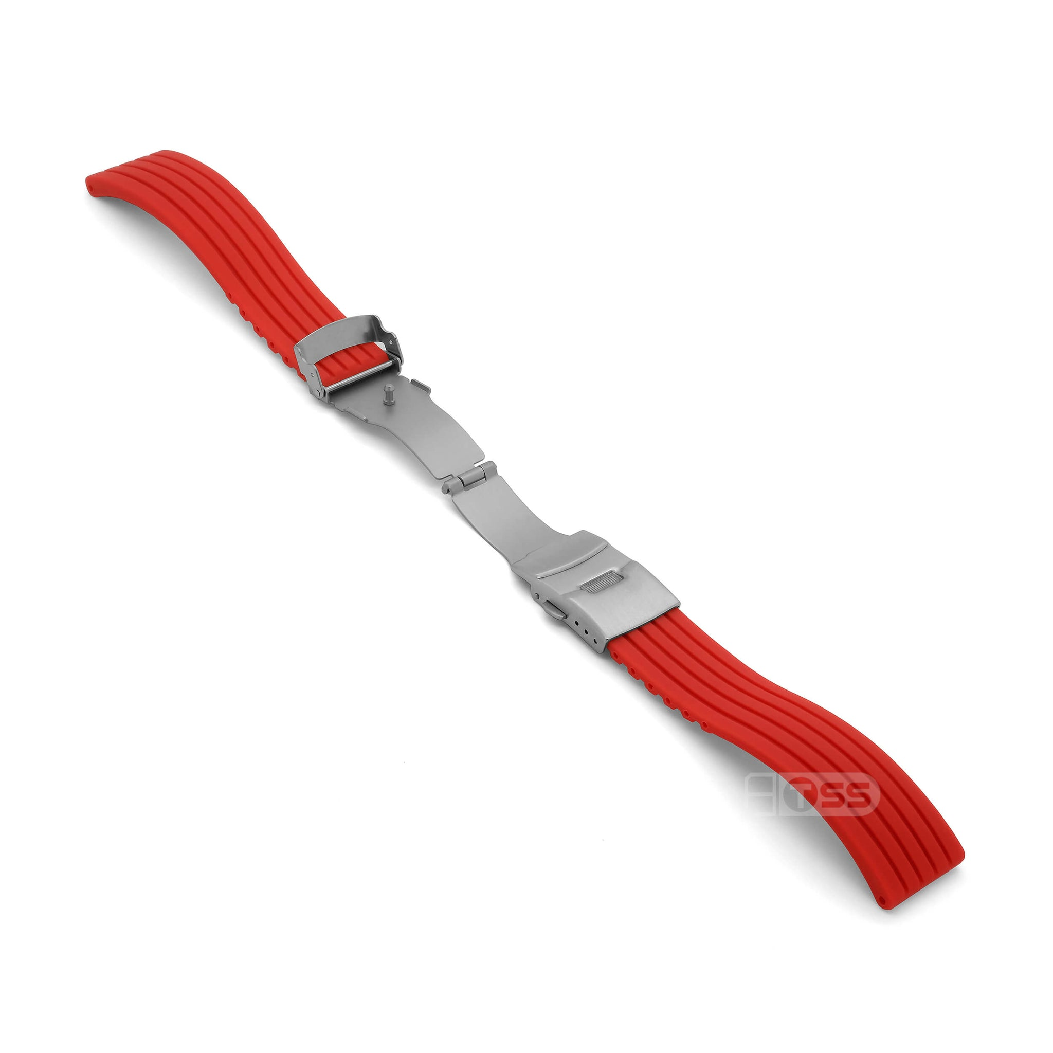 'RBD-1' Rubber Deployment Watch Strap (Red)