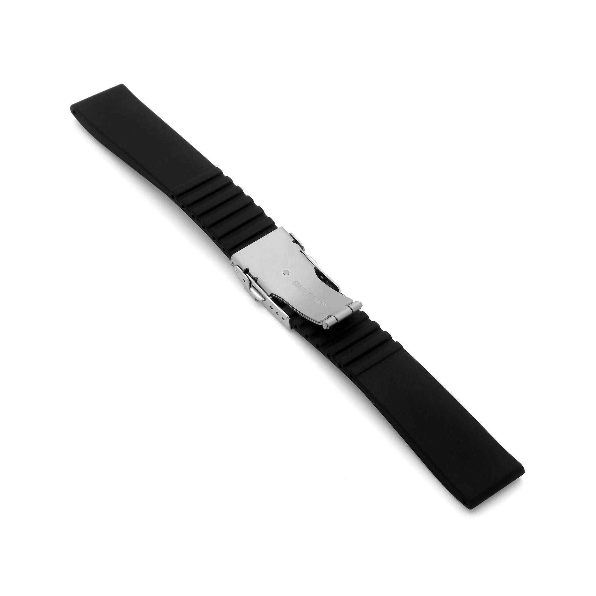 'RBD-4' Rubber Deployment Watch Strap