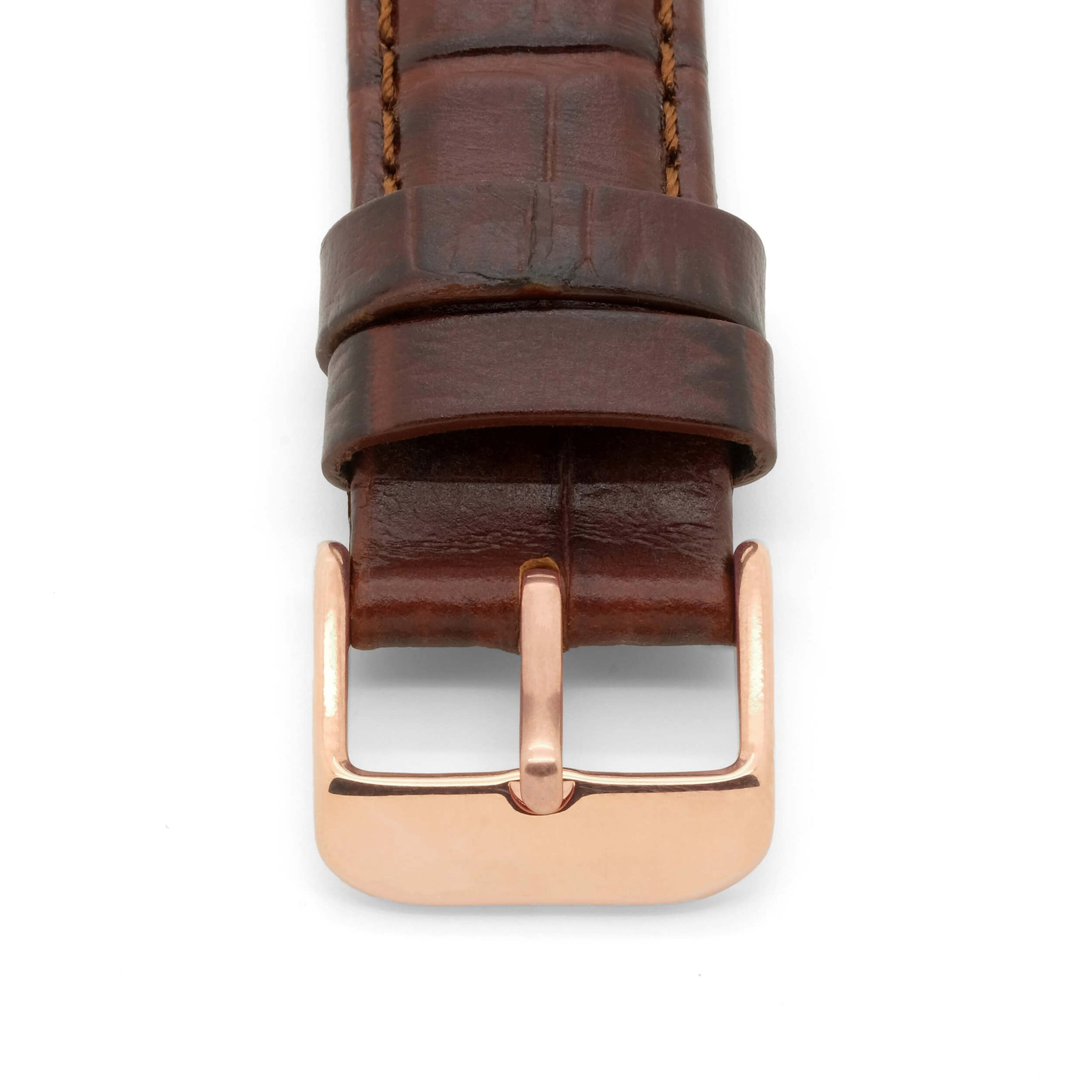 Polished Rose Gold Watch Strap Buckle