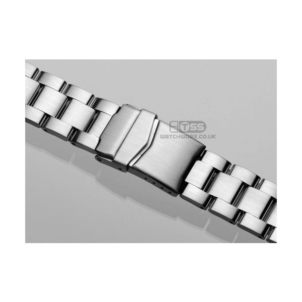 'T18' Solid Link Stainless Steel Watch Bracelet On Seiko