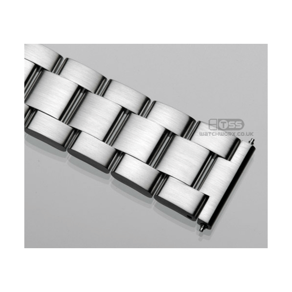 'T18' Solid Link Stainless Steel Watch Bracelet