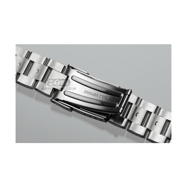 'T18' Solid Link Stainless Steel Watch Bracelet Clasp