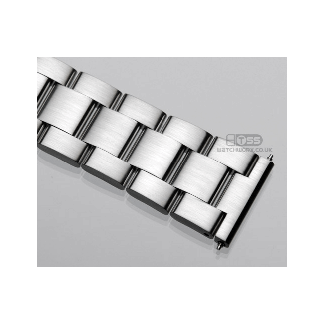 'T20' Solid Link Stainless Steel Watch Bracelet