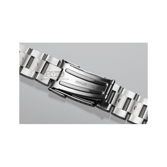 'T20' Solid Link Stainless Steel Watch Bracelet Clasp