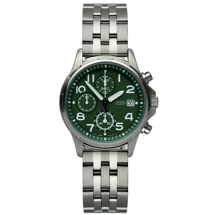 'T28' Solid Link Stainless Steel Watch Bracelet On Seiko