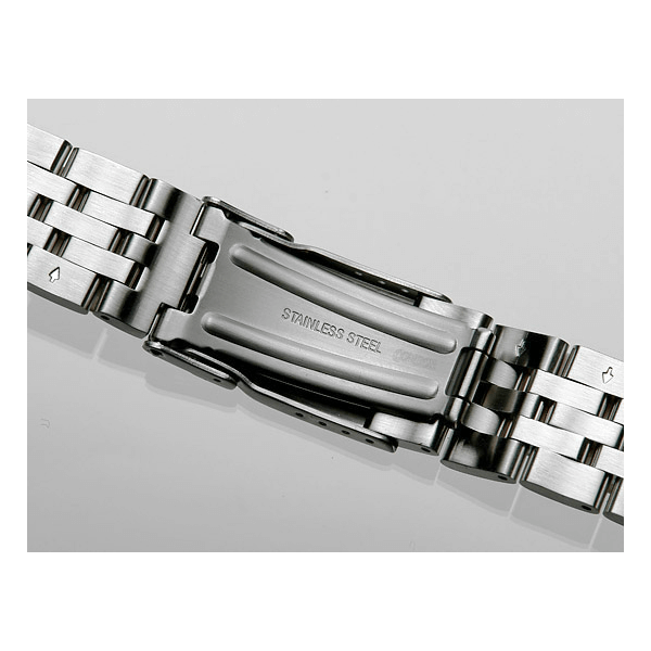 'T28' Solid Link Stainless Steel Watch Bracelet Clasp