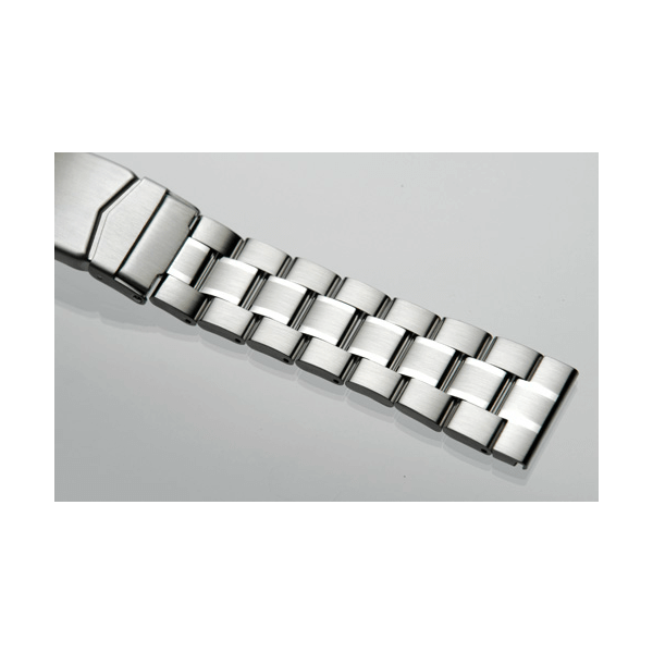 'T32' Solid Link Stainless Steel Watch Bracelet