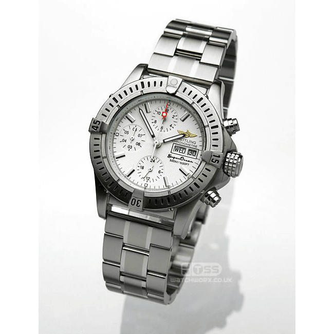 'T32' Solid Link Stainless Steel Watch Bracelet On Breitling